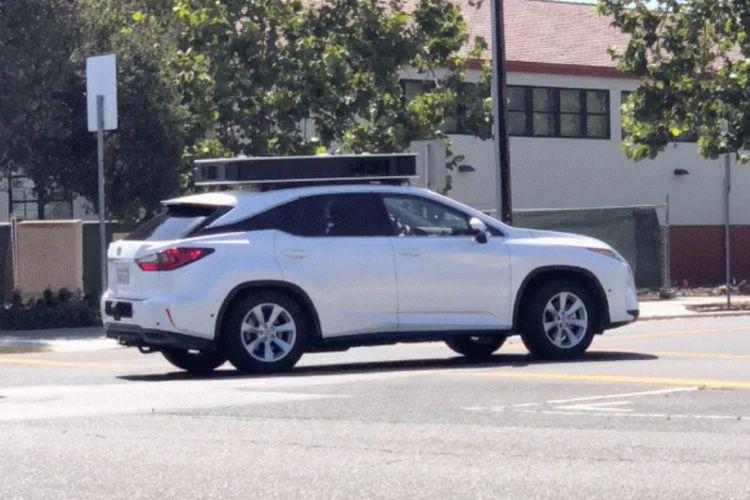 video en galerie : Les voitures Apple rangent leurs capteurs proprement