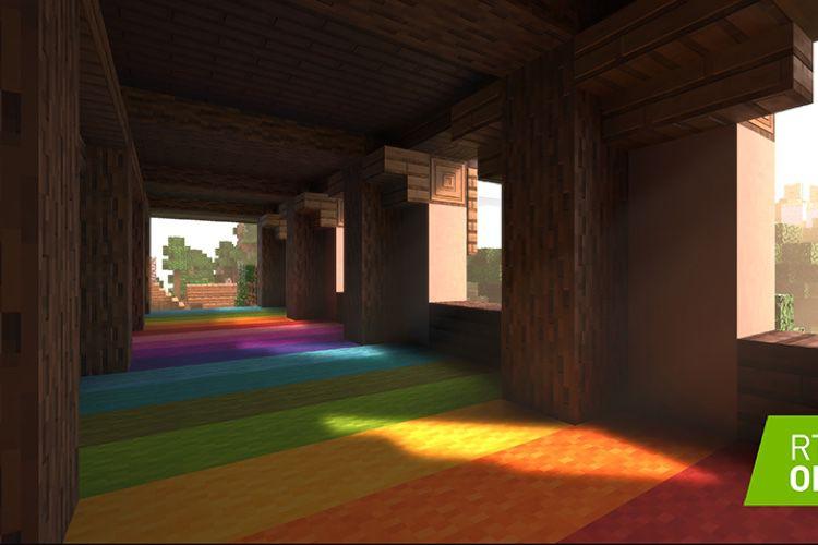 Minecraft illuminé par un lancer de rayons