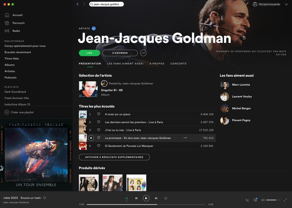 Son répertoire enfin disponible en streaming — Jean-Jacques Goldman
