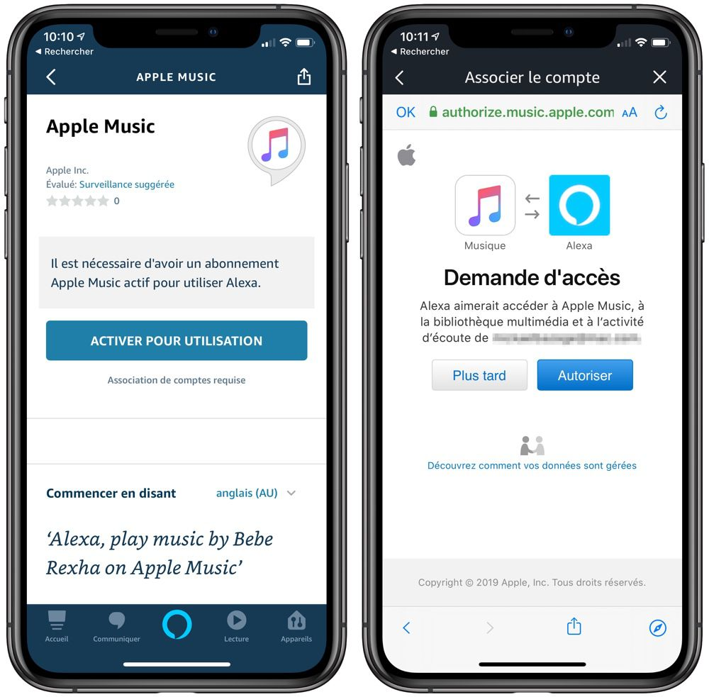 Apple Music : disponible sur les enceintes Amazon en France