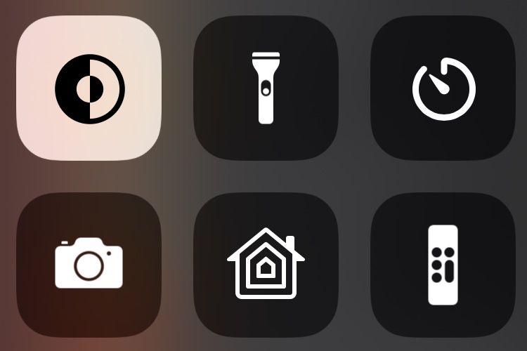 iOS13 : une icône pour activer l'apparence sombre dans le centre de contrôle