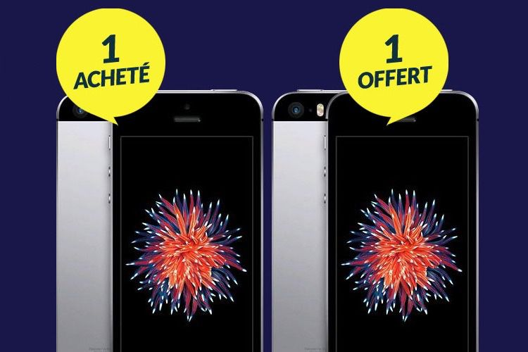 Promos : un iPhone SE acheté à 169,90 = un iPhone SE offert !  📣