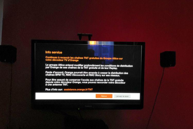 Orange prévient ses abonnés que BFM TV pourrait couper