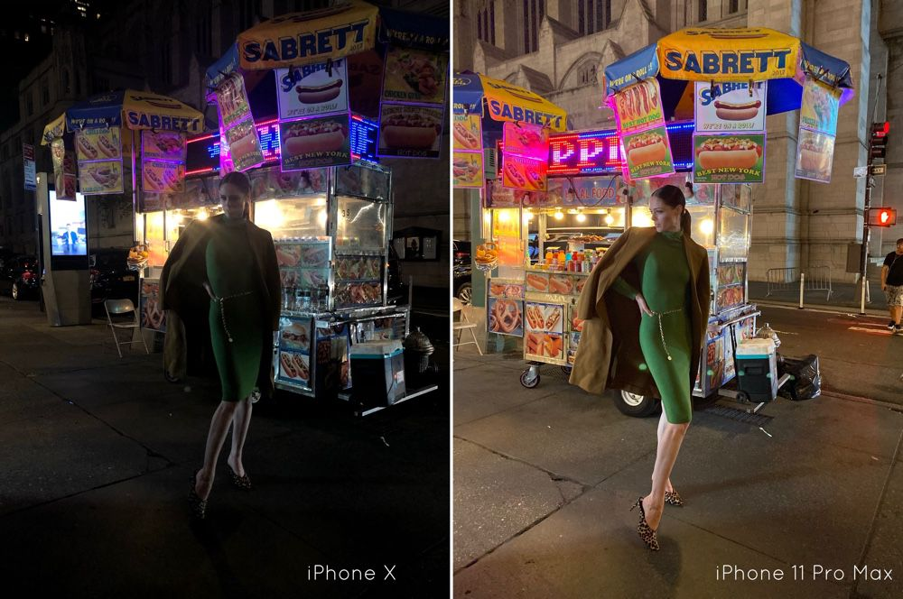 iPhone 11  premier comparatif crédible du mode Nuit
