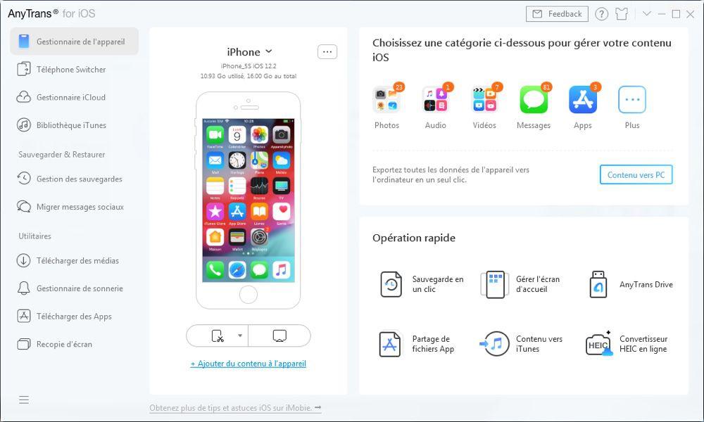iOS 13 : faites une sauvegarde complète de votre iPhone avec AnyTrans