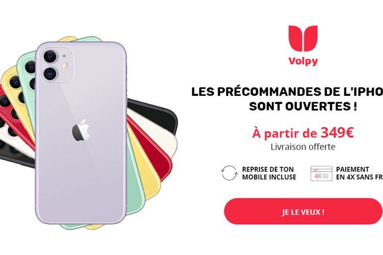 Exclusif : l'iPhone 11 dès 349€ chez Volpy!  📣