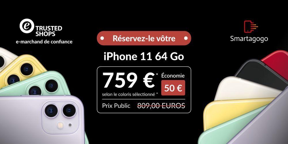 Offre exclusive Smartagogo : l'iPhone 11 dès 759€, la livraison UPS
