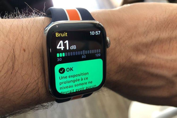 L'app Bruit de watchOS6 est prévue pour les Series3