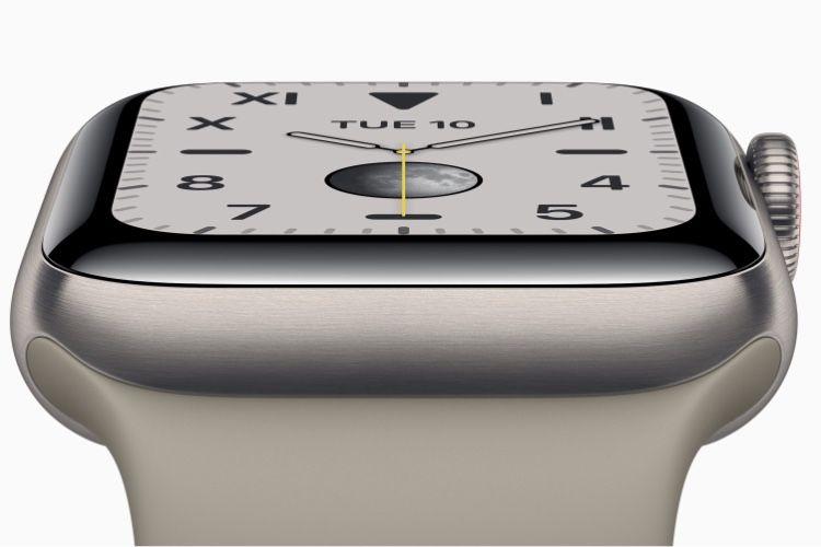 Ceci est une révolution : l'AppleWatch Series 5 affiche l'heure en permanence