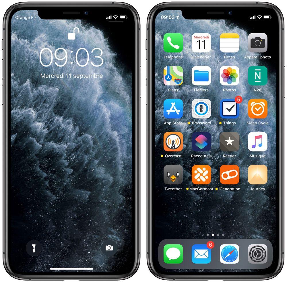 Fond Decran Iphone 11 Noir