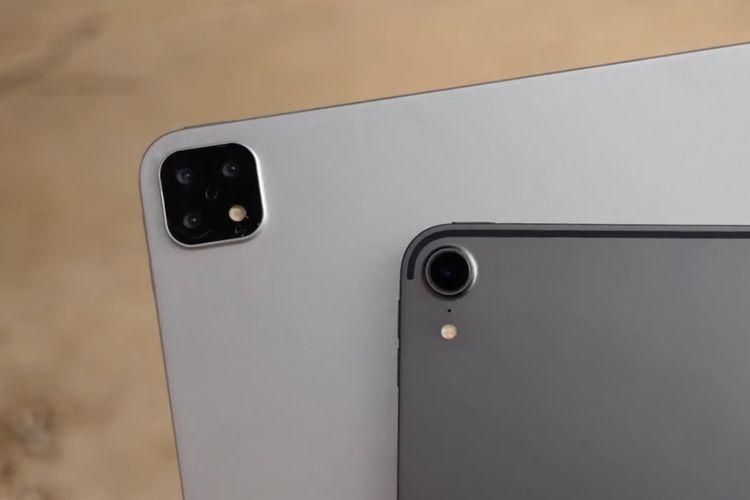 video en galerie : Une maquette d'iPadPro à 3 appareils photo en vidéo