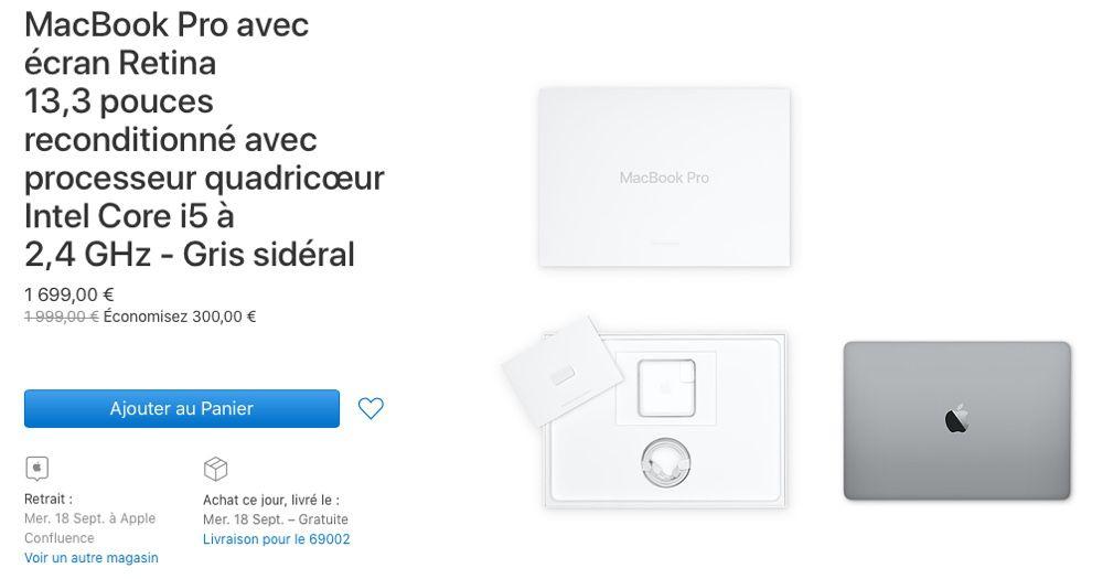 """Refurb : 10 configurations de MacBook Pro 13"""" 2019"""