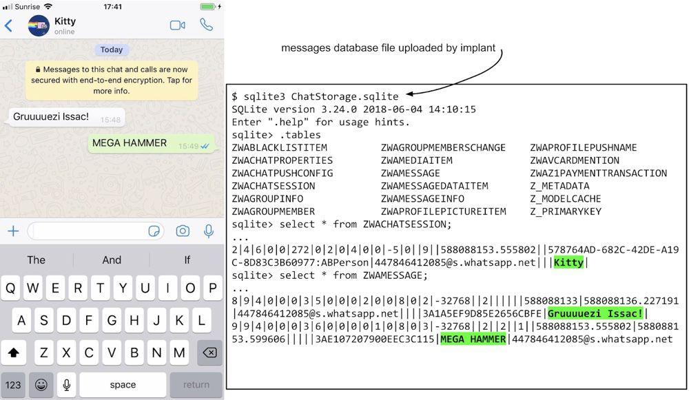 Illustration des types de contenus automatiquement récupérés par le malware et envoyés vers son serveur. Image Google