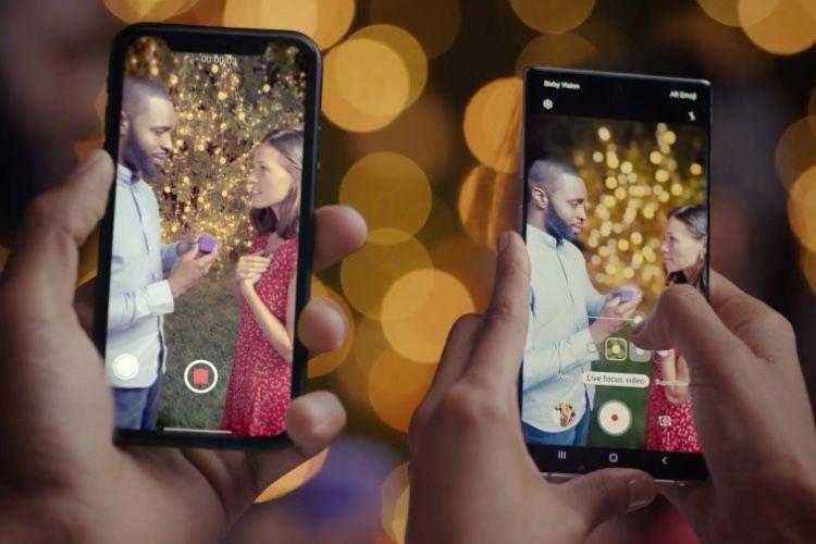 Pour contrer l'iPhone, Samsung vante l'effet bokeh vidéo du Galaxy Note10