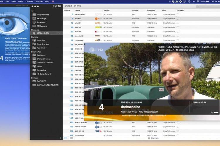 EyeTV 4 en approche pour macOS Catalina
