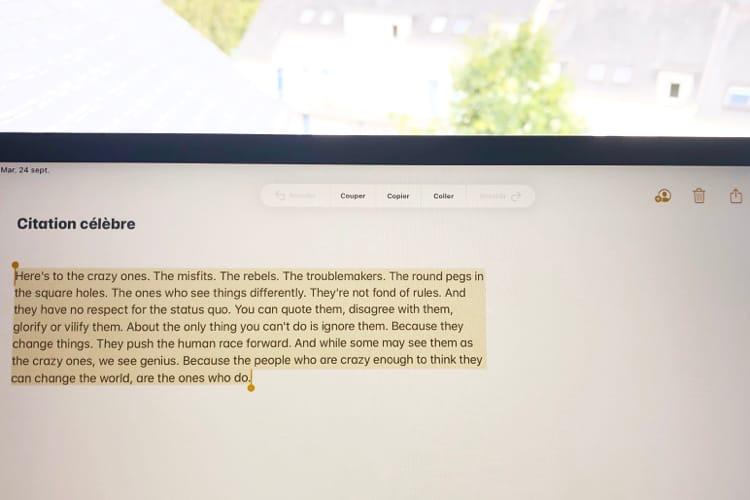 Découvrez les nouveaux gestes d'iOS 13 pour sélectionner et gérer le texte