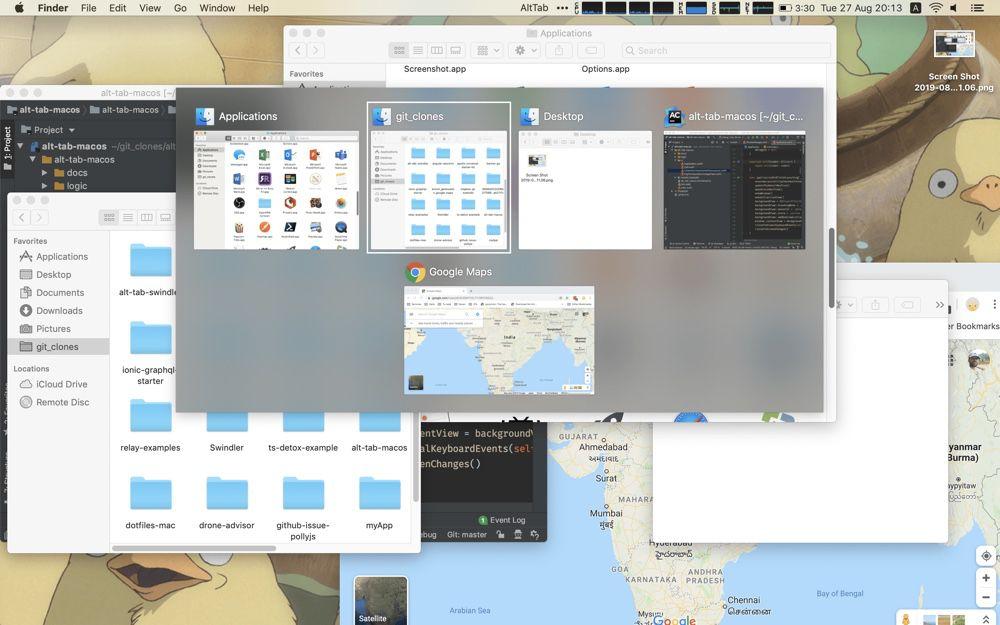 AltTab, un utilitaire macOS qui passe d'une fenêtre à l'autre comme