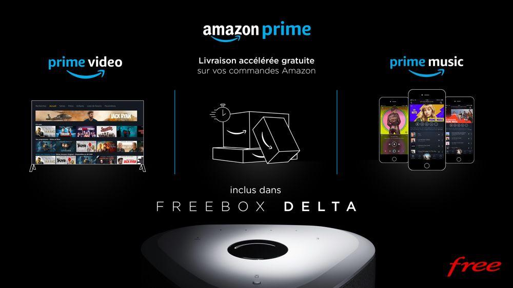 L'abonnement Amazon Prime est inclus avec tous ses bonus — Freebox Delta