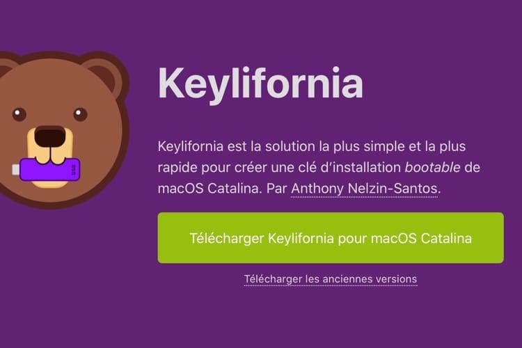 Keylifornia crée des clés d'installation pour Catalina
