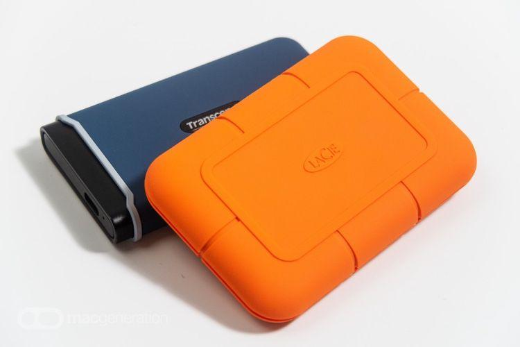 Mini-test des TranscendESD350C et LaCie Rugged, deux SSD externes «renforcés»