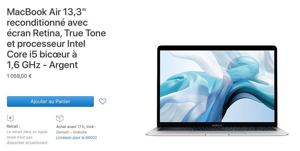 """Refurb : -190 à -290€ sur les MacBook Air et MacBook Pro 13"""""""