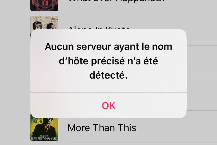 Des services en ligne d'Apple sont dans les choux 🆕