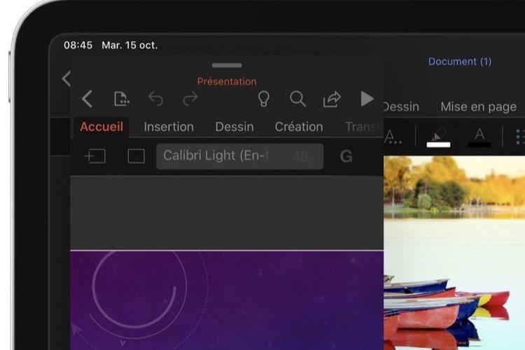 Office adopte le mode sombre d'iOS13