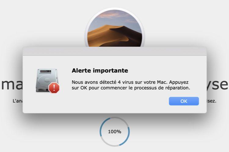 Attention aux pubs web qui détectent des virus sur votre Mac