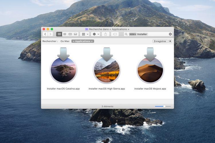 Astuce : télécharger l'installateur complet de macOS avec Catalina