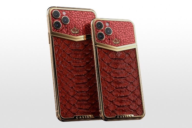 video en galerie : Caviar cache le bloc photo de l'iPhone 11 Pro sous une épaisse couche bling-bling