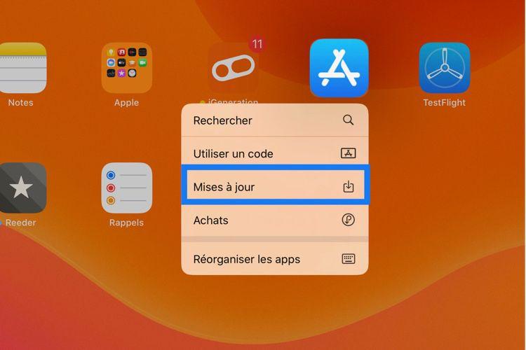 AstuceiOS13: accéder plus rapidement aux mises à jour de l'AppStore