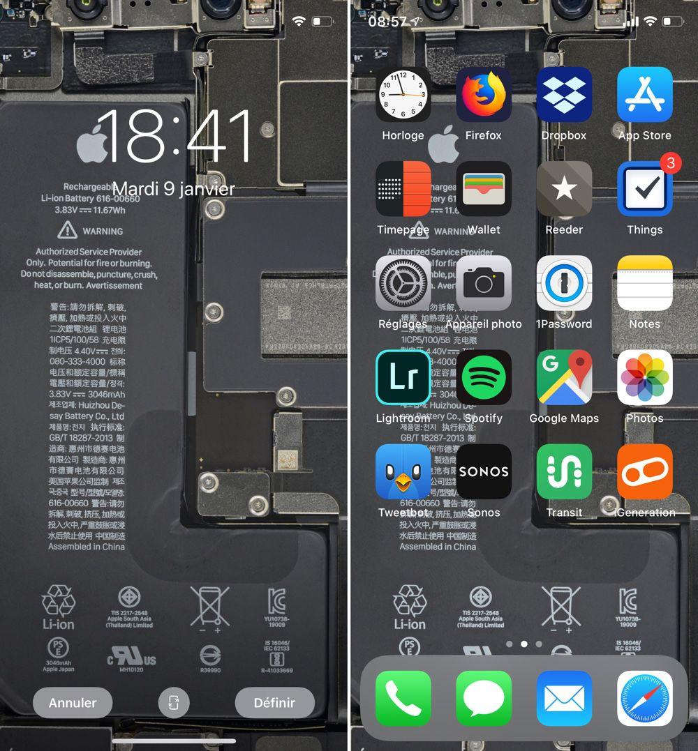 foto de Des fonds d'écran qui exposent les entrailles des iPhone 11 ...