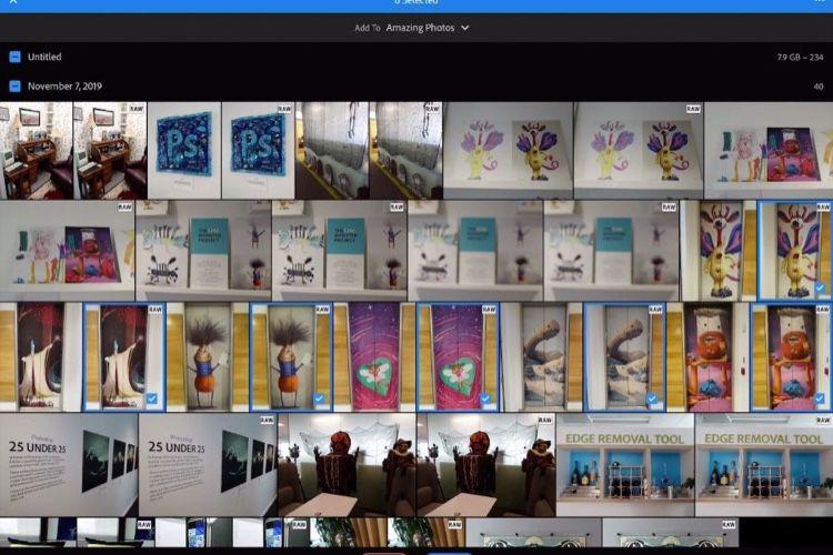 Adobe fait la démo de l'import direct de photos dans Lightroom sur iPad