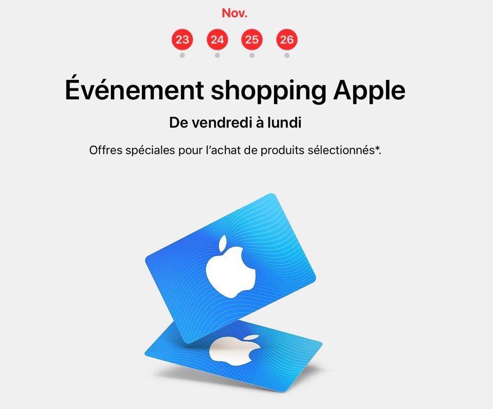 Black Friday : Apple abandonnerait les cartes iTunes en France