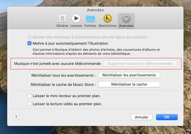 L'app iTunes Remote devrait être compatible Musique et Apple TV avec