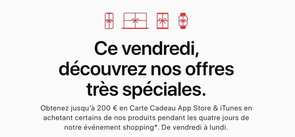 Black Friday Apple Jusqu A 200 En Cartes App Store Et Itunes Macgeneration