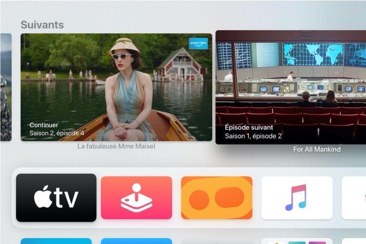 tvOS13.3 restaure l'affichage de la file d'attente de l'app Apple TV sur l'écran d'accueil