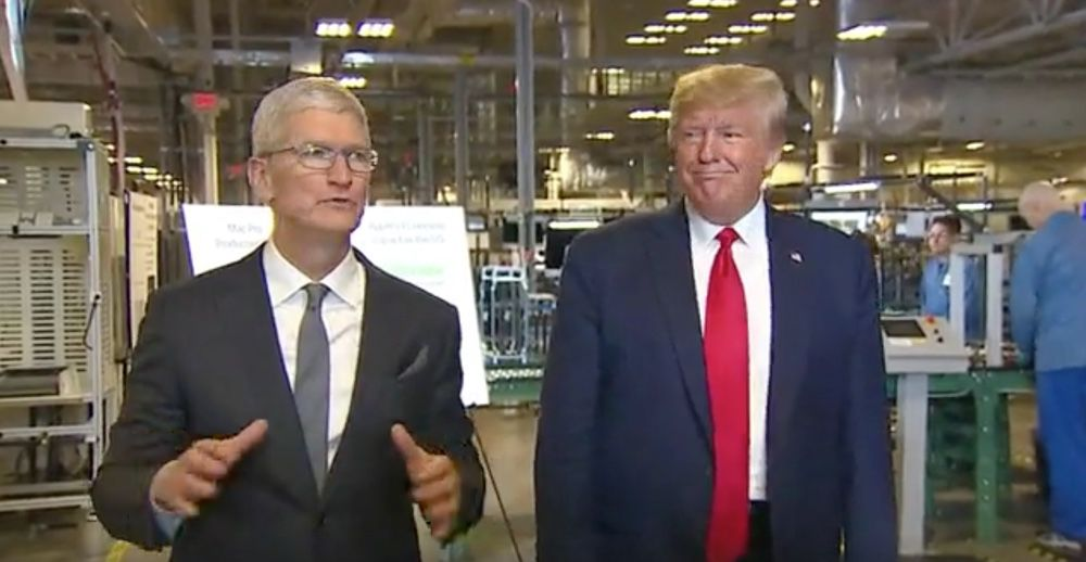 Tim Cook ha regalato a Donald Trump il primo Mac Pro del 2019