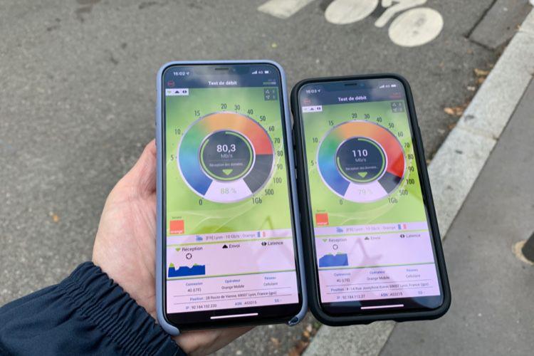 L'iPhone 11Pro va-t-il plus vite qu'un XSen4G?