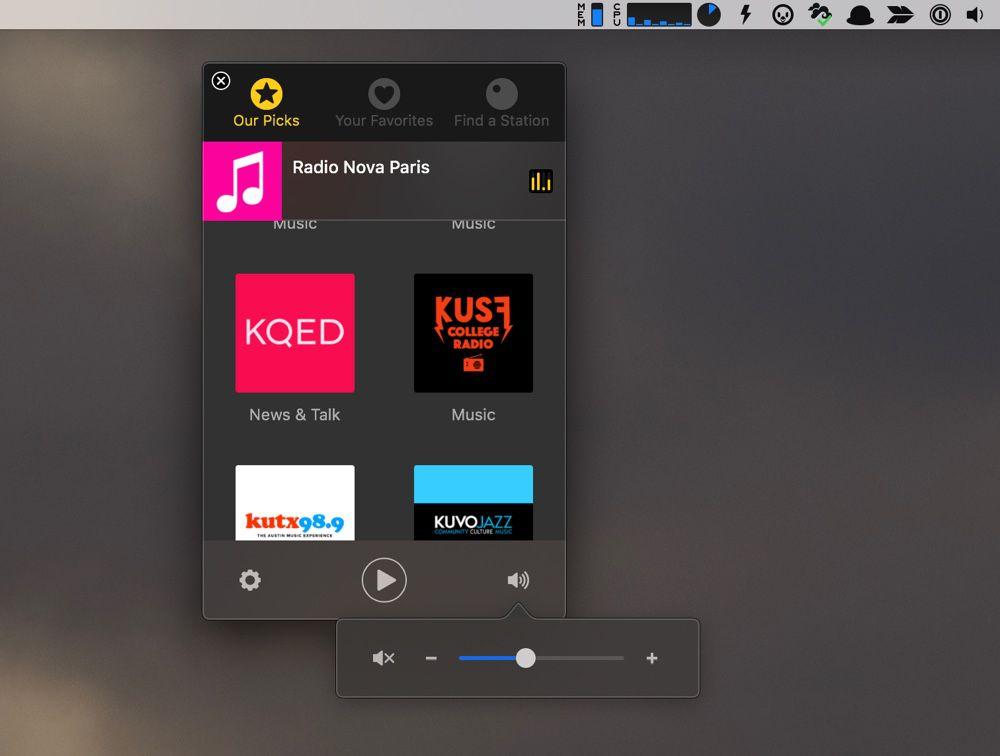 Triode : un lecteur de radios pour Mac, iPhone et Apple TV