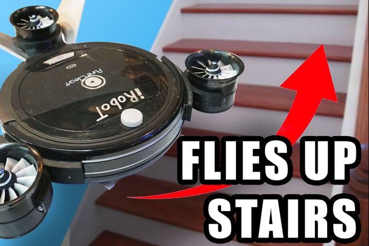 video en galerie : Qu'est-ce qui est mieux qu'un Roomba? Un Roomba volant, naturellement!