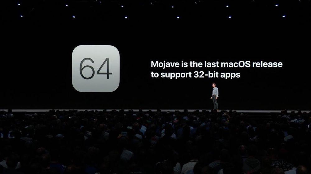 Apple n'a pas totalement supprimé le 32 bits de Catalina