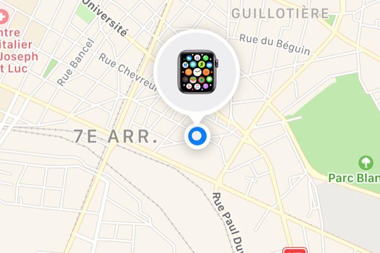 Même volée, faites sonner votre AppleWatch pour laretrouver