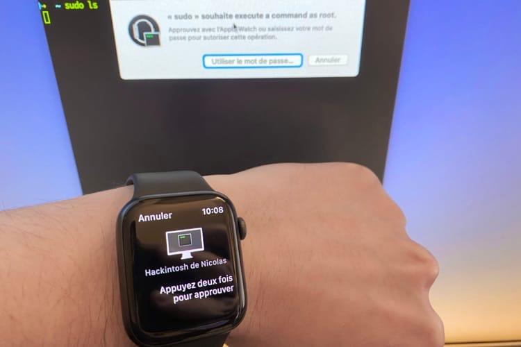 Astuce Catalina : valider les commandes sudo dans le terminal avec une AppleWatch