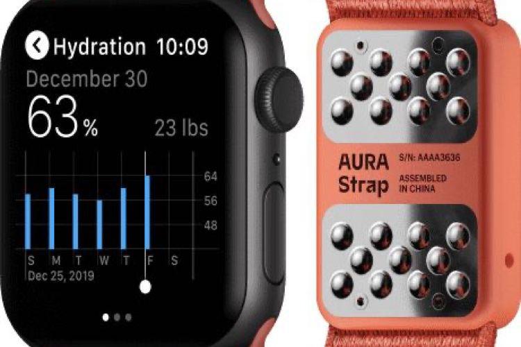 Aura Strap : un bracelet d'AppleWatch avec des capteurs santé