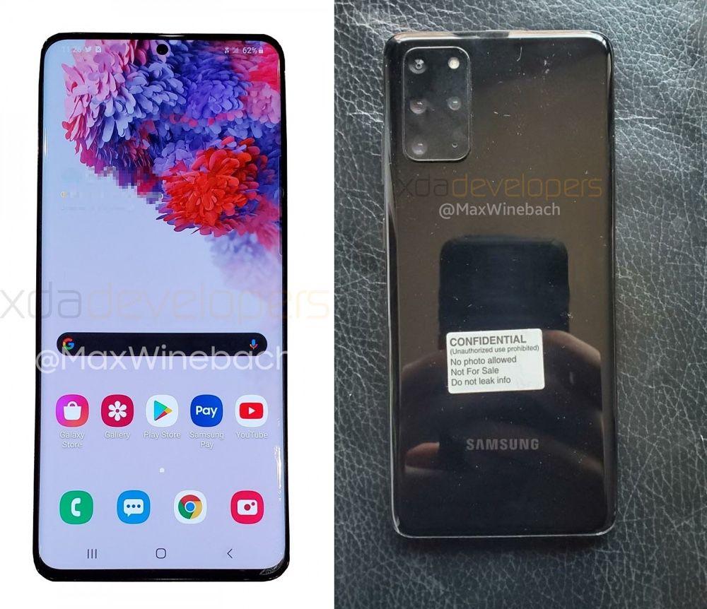 Le Galaxy S20 De Samsung Se Dévoile En Photos Volées