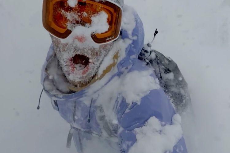 video en galerie : iPhone 11 : les slofies font du ski