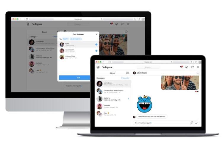 Instagram installe sa messagerie dans les navigateurs web