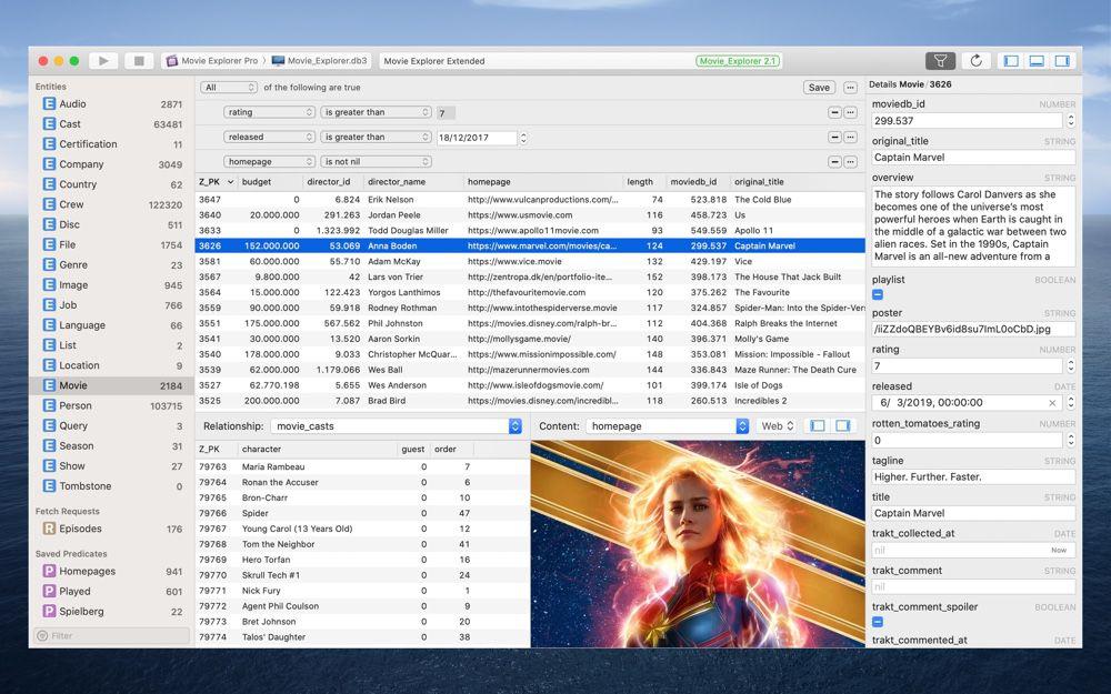 Core Data Lab visualise les données Core Data dans une app native