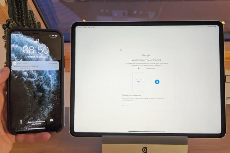L'iPhone peut à son tour servir de clé de sécurité pour se connecter à Google